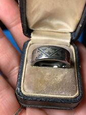 Triton Tungsten Carbide Men's Wedding Band Ring Size 7 Etched Laser Design