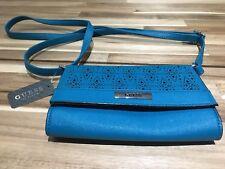 BNWT- GUESS Cross body bag Clutch Bag small handbag in Teal / Green /blue.