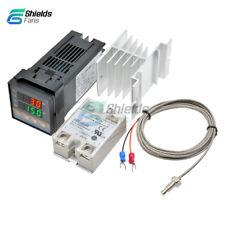 REX-C100 Digital PID Temperaturregler Eingestellt+K Thermoelement+SSR 40DA Relay