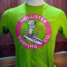 Hollister Surf Co  Adult Green T Shirt Size Medium