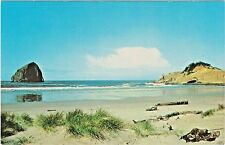 Haystack Rock and Cape Kiawanda (Kiwanda) on Oregon Coast at Pacific City