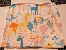 Polyester Baby Blanket-Giraffes and Elephants Print