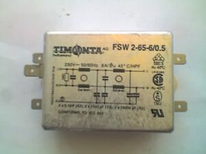 TIMNTA Model FSW 2-65-6/0.5 250v ac 6A Mains Filter - NOS - VGC