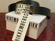 Ceinture belt Bikkembergs homme unisexe en cuir noir  taille 90, Neuve. Pvb 120€