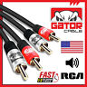 2-RCA Male to 2-RCA Male L/R Audio Stereo Cable Cord 2RCA to 2RCA Cable 6FT