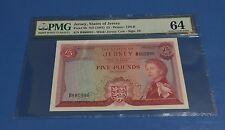 1963 Jersey, States of Jersey QE II £5 P-9b PMG 64