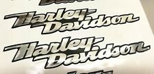 Coppia Adesivi Resinati Stickers 3D stile HARLEY DAVIDSON rilievo per SERBATOIO