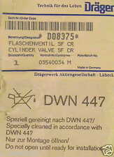 DRÄGER FLASCHENVENTIL SF CR D08375 O2 Druckluftflaschen CYLINDER VALVE Compr AIR