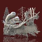 3D Model STL CNC Router Artcam Aspire Forest Animal Squirrel Panel Cut3D Vcarve