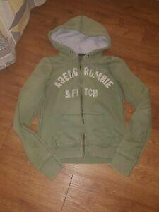 boys green abercrombie fitch sweatshirt/hoodie size M