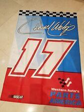 """Darrel Waltrip NOS Original Parts America Showroom-Partsroom Banner 41""""x 28 3/4"""