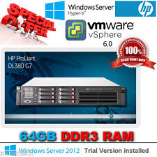 HP Proliant DL380 G7 2.66Ghz Quad Core E5640 Xeon 64GB RAM 2x146Gb SAS 10K P410i
