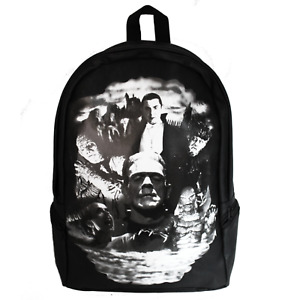 Universal Monsters Collage Frankenstein Dracula Mummy Backpack UM-MBD-COLLAGE