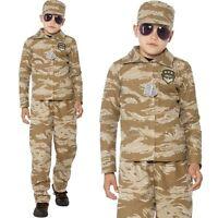 BAMBINI RAGAZZI DESERTO MILITARE Costume da Soldato Bambini Vestito Da Smiffys
