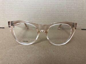 Authentic CELINE Transparent Light Pink Eyeglasses CL50019I - 072 49/19 145