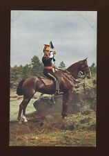 Military 5th ROYAL IRISH LANCERS Trumpeter Tuck Oilette #9367 PPC