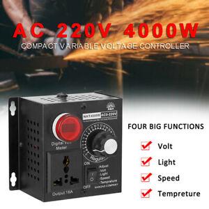 AC 220V 4000W Motor Controller SCR Voltage Regulator Thyristor Dimmer Governor
