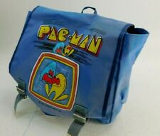 VNTG Pac-Man 1982 Midway Mfg. Co. Blue Backpack/Messenger Bag ~ Very Good!