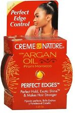 NEW Creme OF Nature With Argan Oil EDGE Control Hair Gel Superior Hold 2.25oz**