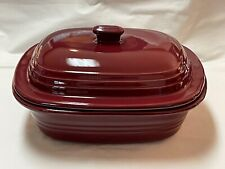 New listing Pampered Chef Stoneware Covered Baker Roaster Dutch Oven Color-Cranberry