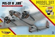 PZL-37 B Los (smalto AF MARCATURE) + Vallejo Paints, colla 1/72 Mirage Set Regalo