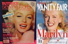 2 Marilyn Monroe Covers Vanity Fair 2012 & Butterick Sewing World 1983 Magazine