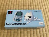 Sony PocketStation PlayStation PS Crystal SCPH-4000 BOX and Manual Japan