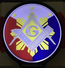 Philippine Freemason Light Up Decal Powerdecal Backlit LED Motion Sensing Decal