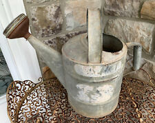 New listing Vintage Galvanized Metal Watering Can Old Antique With Sprinkle Head Farm Garden