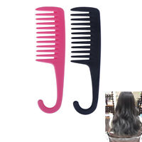 Hook Handle Anti Static Detangling Accessories Wide Tooth Hair Comb Stylin g Fw