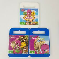 Barney the Dinosaur DVDs x3 Best Fairy Tales Let's Go to the Zoo Songs From Park