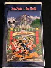 RARE Disney World VHS Tape Parks From Dream To Reality And Beyond HTF Clamshell