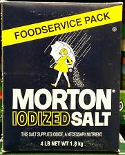 Morton Iodized Salt - 1 box - 4 Pounds ~ This Salt Supplies Iodide