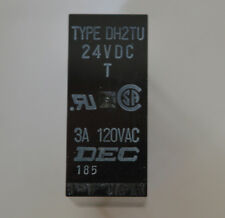 NEW - DH2TU DEC 24VDC Replacement Speaker Protection Relay SILVER ALLOY CONTACTS
