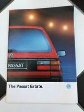 VW Passat Estate range brochure August 1991