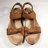 Earth Spirit Womens Leather Adjustable Strap Sport Hiking Sandals Sz 8