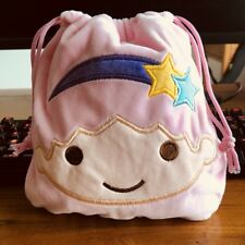 little twin stars pink  handbag drawstring POUCH bag makeup bags Phone anime