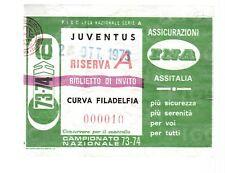 BIGLIETTO STADIO JUVENTUS 1973/74 CURVA FILADELFIA