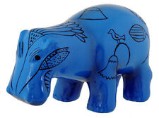 Egyptian Blue Hippo Figurine. Ancient Egypt Hippopotamus Statue Collectible Gift