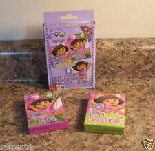 Dora The Explorer Card Game Set of 2 Go Fish Crazy Eights NEW
