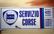 LANCIA SERVIZIO CORSE (Race Service) self adhesive sticker Integrale Stratos etc
