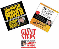 New Anthony Robbins 5 CD Awaken Giant Within & Unlimited Power & Giant Steps