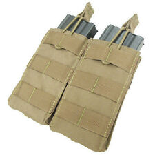Condor MA19 Double Open Top 5.56 Mag Pouch - TAN Tactical Rifle Molle Pouch