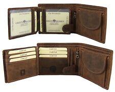 GreenBurry Geldbörse Rind-Leder 12*10*2,5 cm Scheintasche Geldbeutel Herren 1796