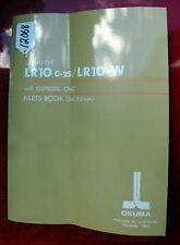 Okuma Lr10 C-2S/Lr10-W Cnc Lathe Parts Book: Le15-052-R3 (Inv.12068)