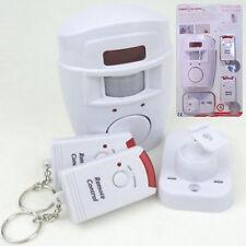 Sensor de movimiento PIR Wireless alarma 2 Control Remoto Ideal Casa Garaje Caravana Cobertizo