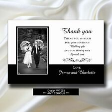 10 Personalised Wedding Thank you Cards Notes with your PHOTO - Series 1