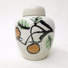 Vintage Porcelain Nancy Japan Lidded Ginger Jar Urn Vase Floral Branch Theme
