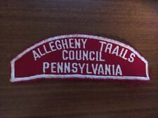 Allegheny Trails Council Pennsylvania Red and White Strip