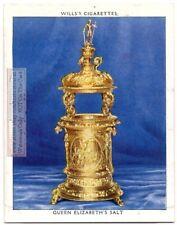 1570s Ornate Gold Queen Elizabeth's Salt English Treasure 1930s Trade Card